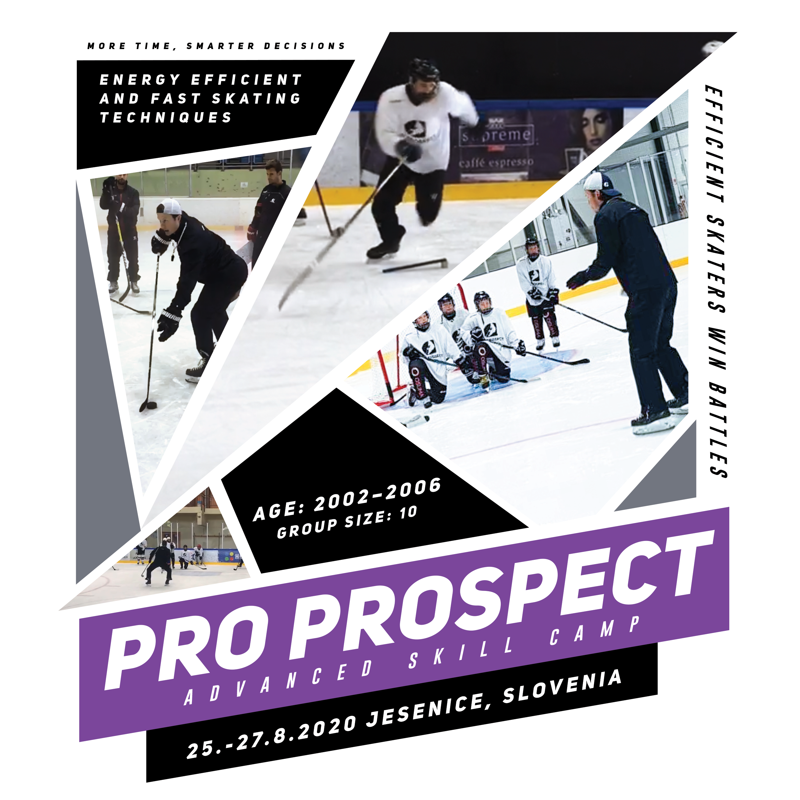 Ice Hockey Skating Skill Camp for young players in Jesenice, Slovenia
