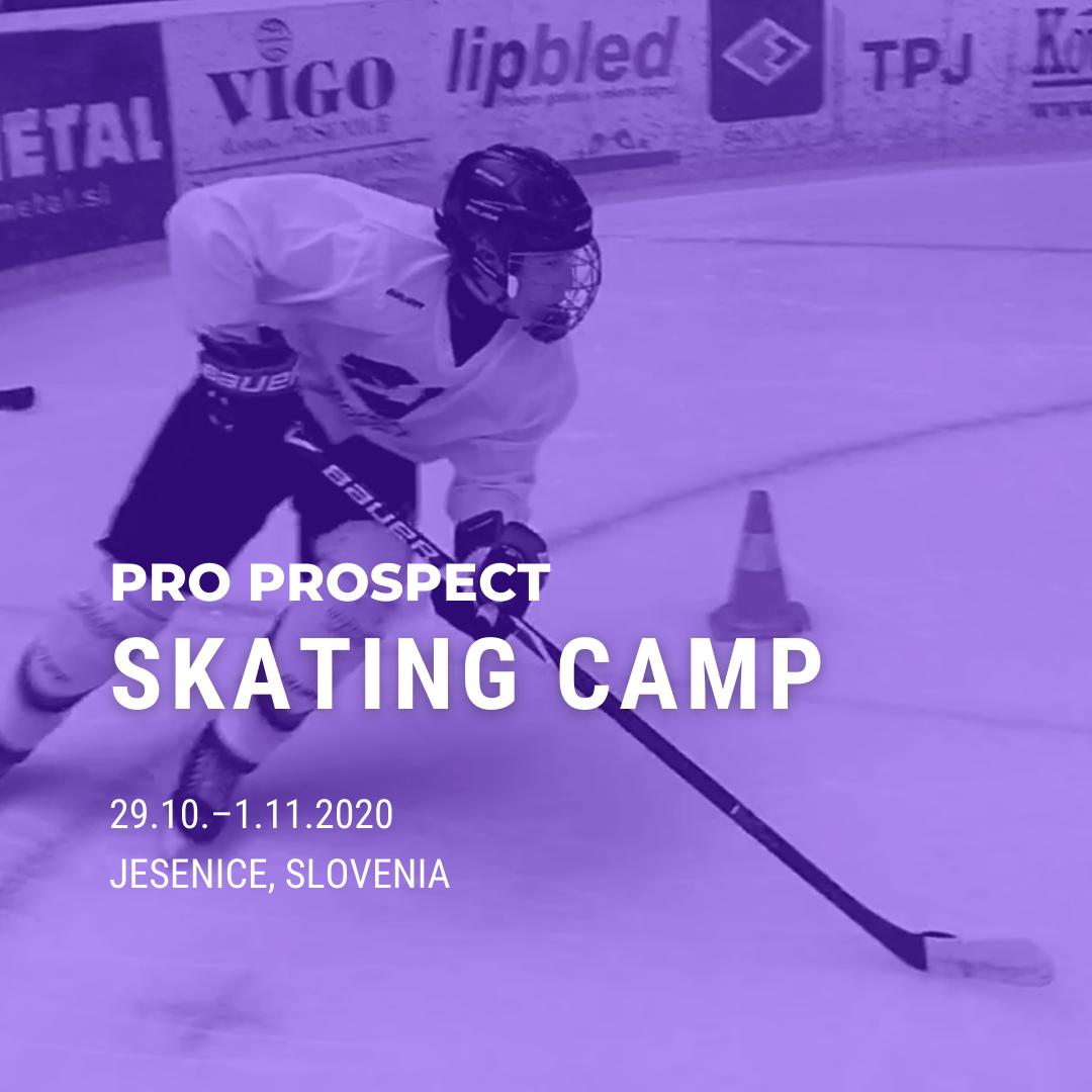Pro Prospect's Ice Hockey Skating Technique Camp is organized in Jesenice, Slovenia 29.10.–1.11.2020