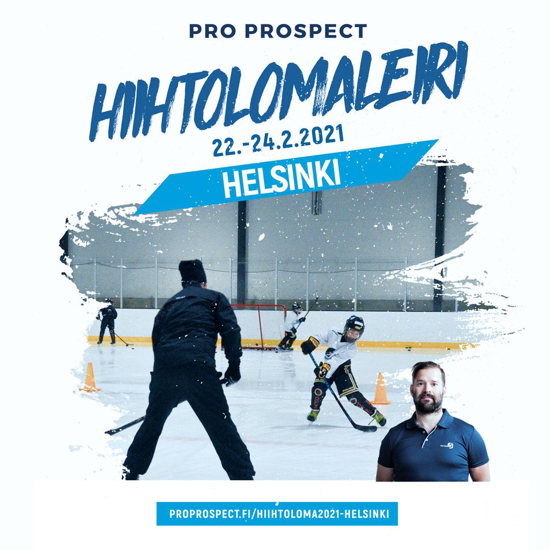 Jääkiekon taitoleiri Helsingissä hiihtolomavii