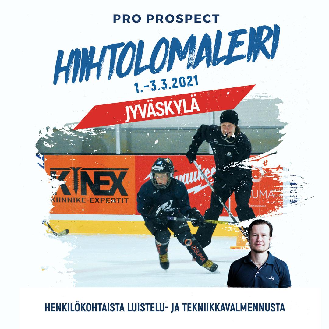 Jääkiekon taitoleiri Jyväskylässä hiihtolomaviikolla